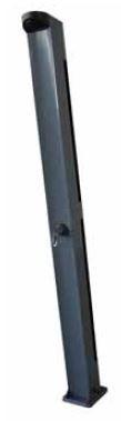 Solardusche Aluminium graphitgrau