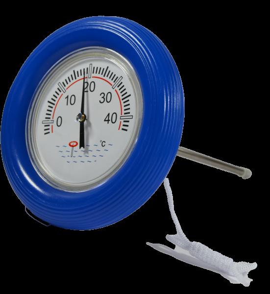 Schwimmbadthermometer mit blauem Ring