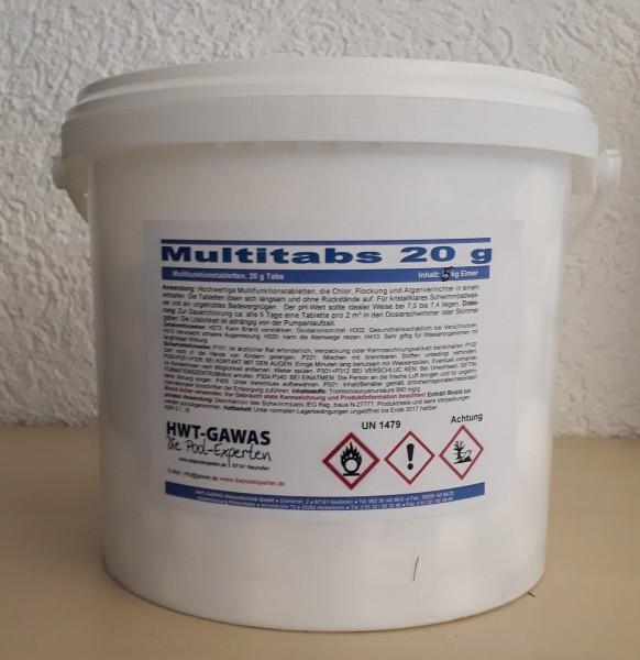 Multitabs Multifunktionstabletten 20 g Tabs